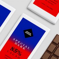 Special Dark Cacao chocolate using Avery WePrint custom labels