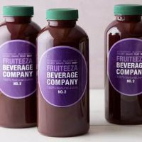 Fruiteeza Beverage Company juices using Avery WePrint custom printing services