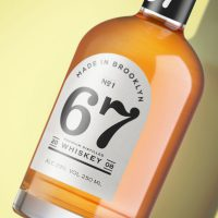 67 Whiskey branded using Avery WePrint custom labels