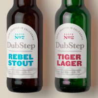 DubStep Beer with branding by Avery WePrint custom labels