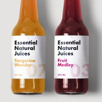 Essential Natural Juices using Avery WePrint Labels