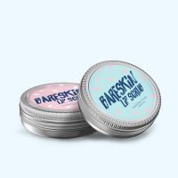 Bareskin Lip scrub with round labels by Avery WePrint
