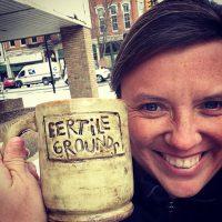 Fertile Grounds coffee mug with company founder