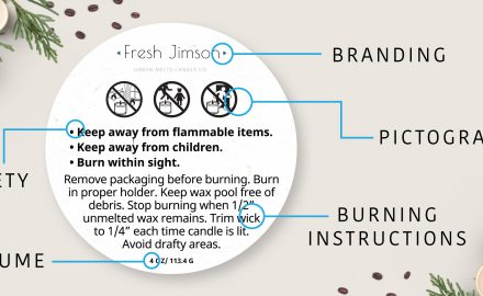 Candle Warning Labels-Safety Labels & Stickers