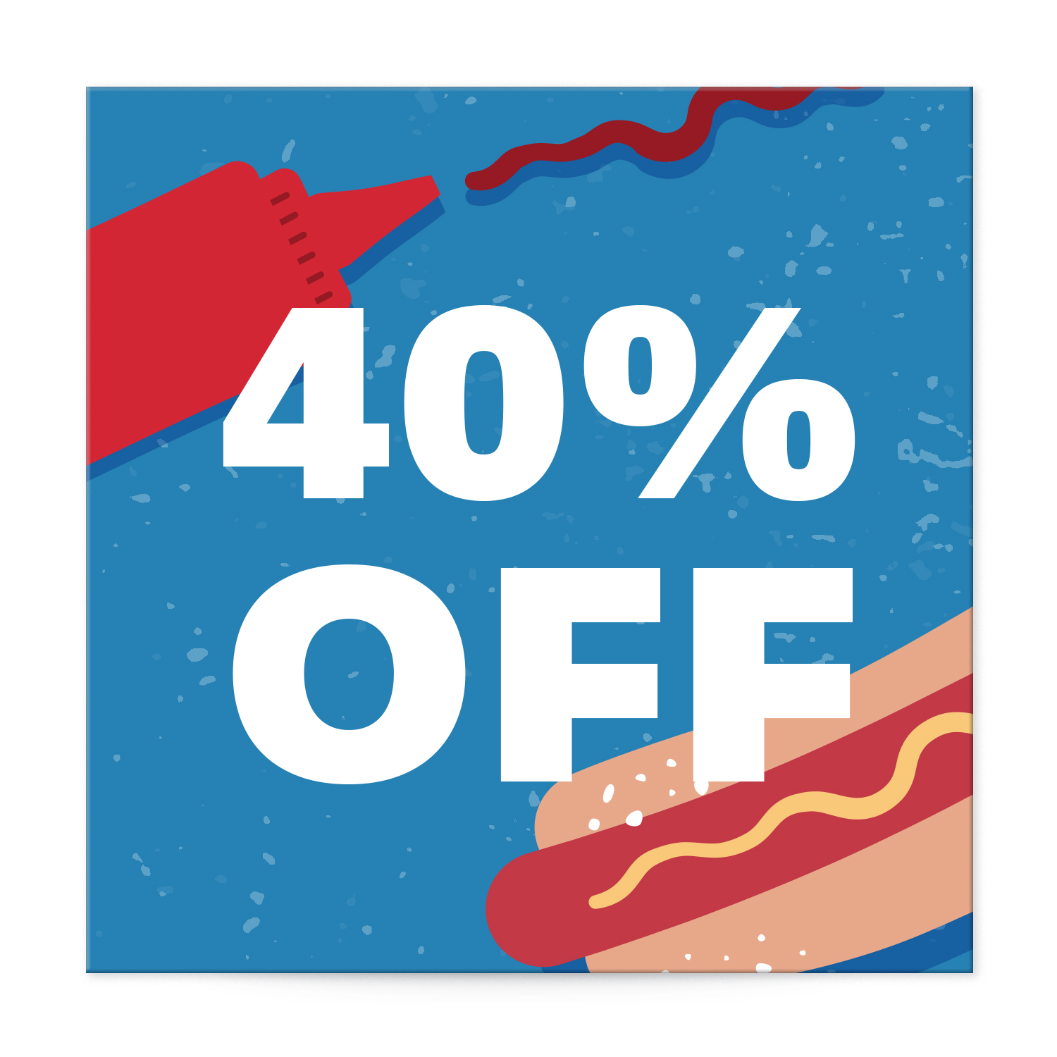 Hot dog-themed summer sale square label templates