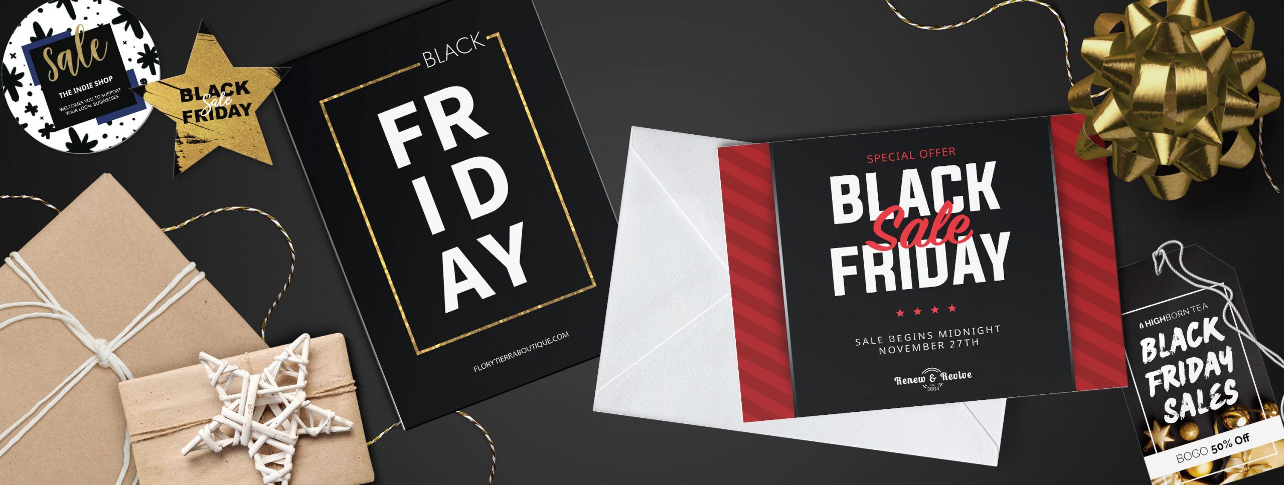 Free templates for black friday sales and small business saturday sales