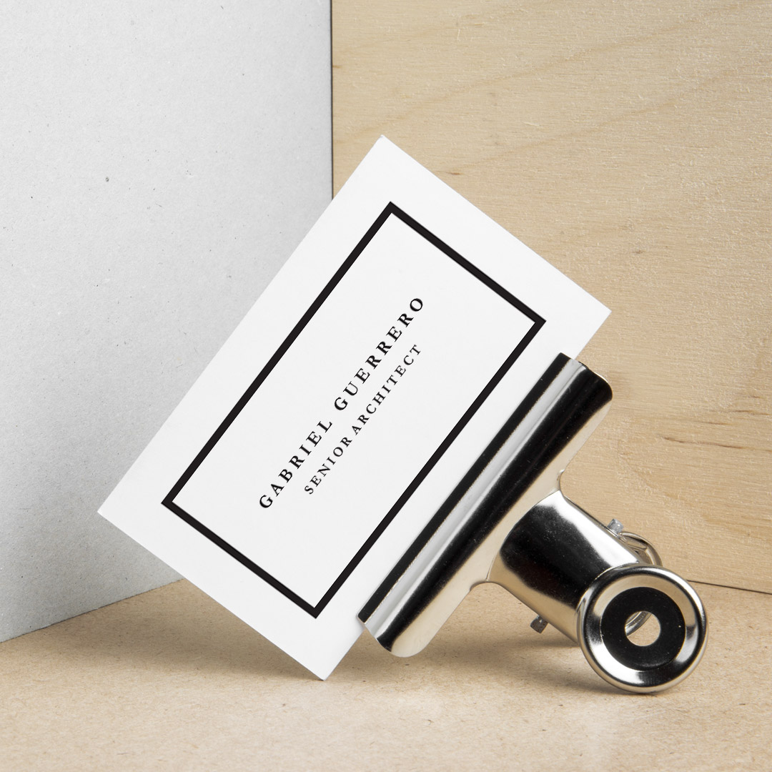 Create professional custom business cards using a simple, minimalistic design so important information stands out.