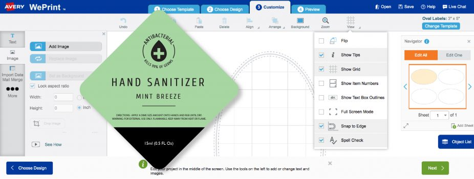 Rotate Text & Graphics on Your Product Labels