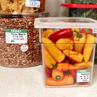 Day and date labels for food storage containers