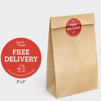 Food security seals for takeout and to-go bags