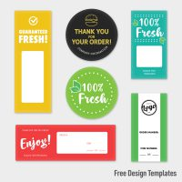 Free templates for personalizing your own food safety seals
