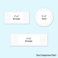 Choose from a variety of sizes of tamper-proof labels