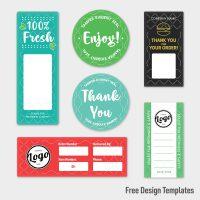 Find free design templates for tamper-evident labels
