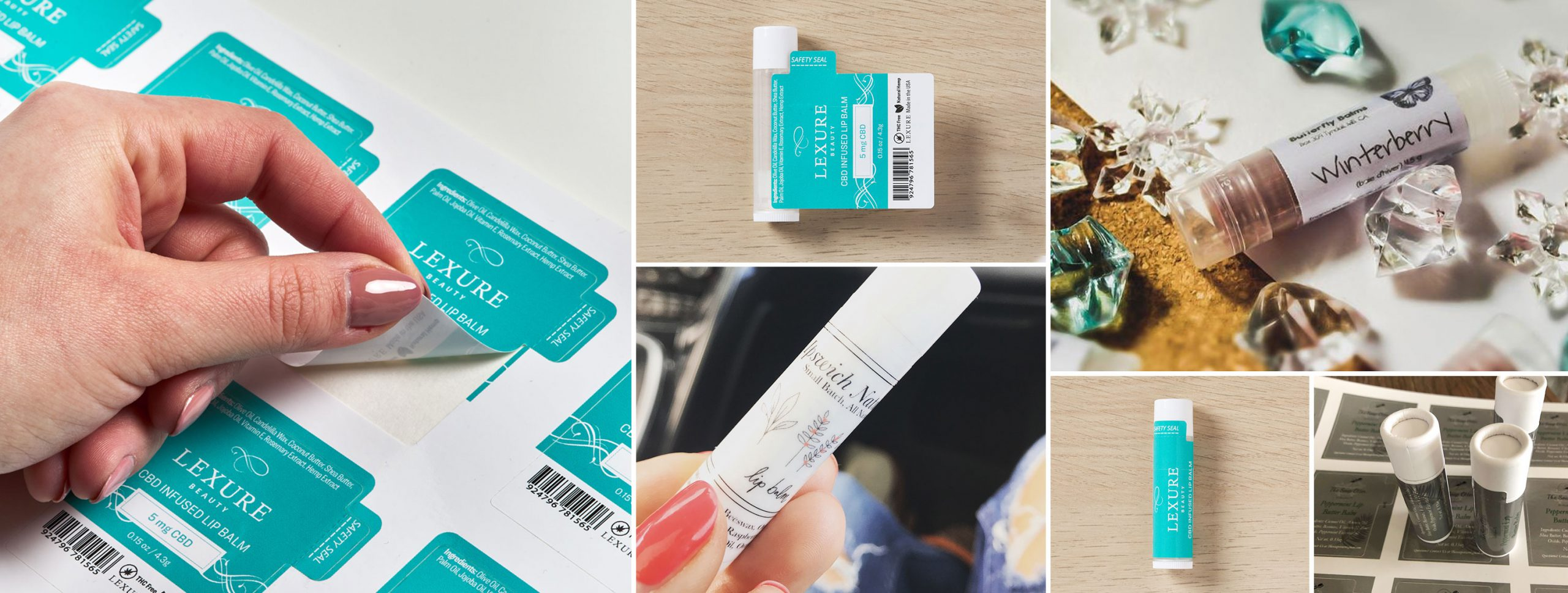 How to make, order and apply lip balm labels and lip gloss labels