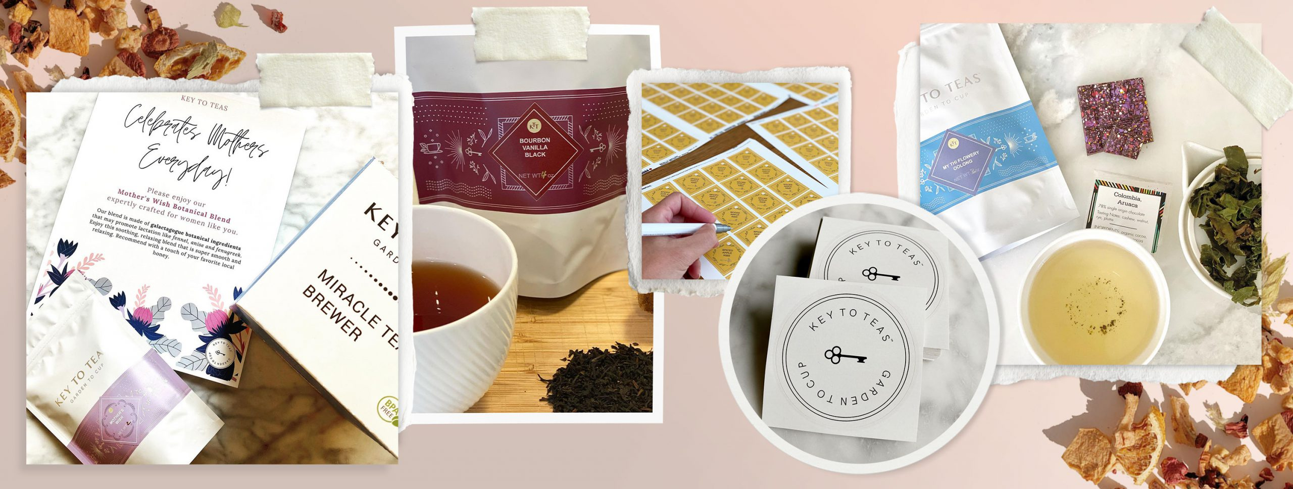 Keys to Teas uses Avery labels for all their product labels