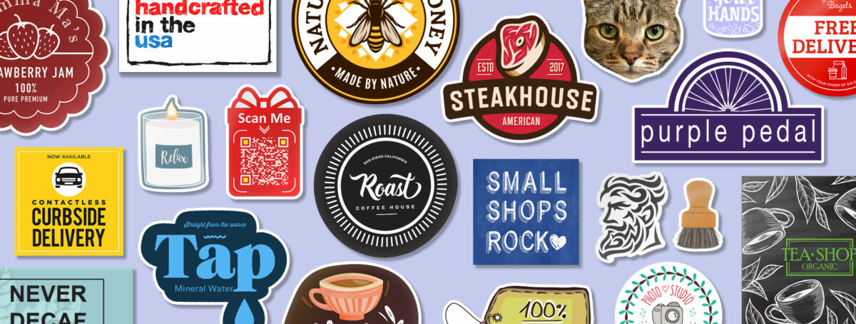 Promote your business with custom stickers