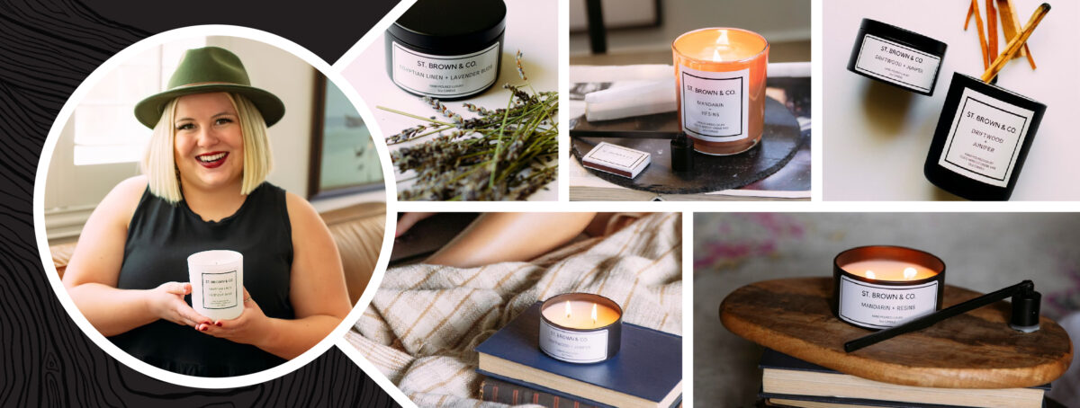 Avery customer spotlight St. Brown and Co. Candle Business